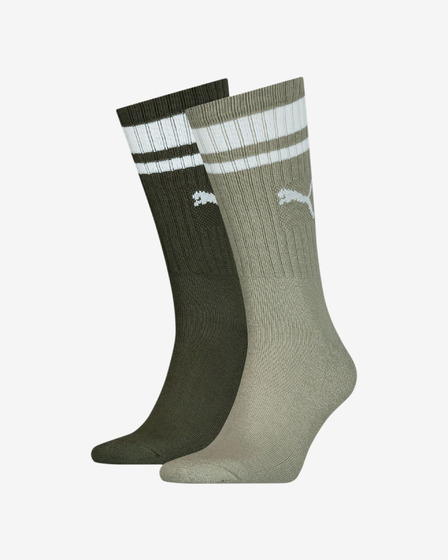 Puma Crew Heritage Stripe Set of 2 pairs of socks