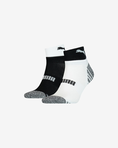 Puma Seasonal Quarter Set of 2 pairs of socks